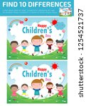 find differences  game for kids ... | Shutterstock .eps vector #1254521737