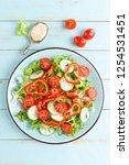 healthy vegetarian vegetable...   Shutterstock . vector #1254531451