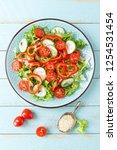 healthy vegetarian vegetable...   Shutterstock . vector #1254531454