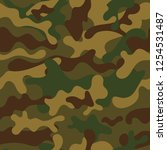 fashionable camouflage pattern. ... | Shutterstock .eps vector #1254531487