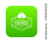 old fortress icon green vector... | Shutterstock .eps vector #1254536224