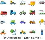 color flat icon set concrete... | Shutterstock .eps vector #1254537454