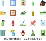 color flat icon set sockets... | Shutterstock .eps vector #1254537514