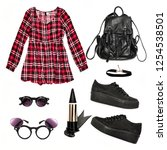 Stylish Girl. A Set Of...