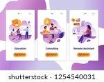 mobile app templates of... | Shutterstock .eps vector #1254540031