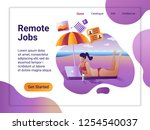 landing page template of remote ... | Shutterstock .eps vector #1254540037