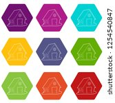 ranch icons 9 set coloful...   Shutterstock .eps vector #1254540847