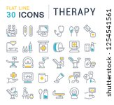 set of vector line icons of... | Shutterstock .eps vector #1254541561