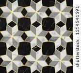luxury marble mosaic star tile... | Shutterstock .eps vector #1254541591