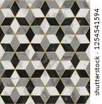 luxury marble mosaic star tile... | Shutterstock .eps vector #1254541594
