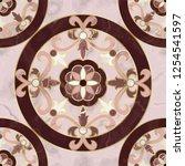 luxury pink marble mosaic... | Shutterstock .eps vector #1254541597