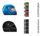 vector illustration of car and... | Shutterstock .eps vector #1254541864
