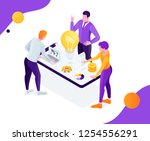 vector business illustration. a ... | Shutterstock .eps vector #1254556291