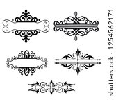 decorative monograms and... | Shutterstock .eps vector #1254562171