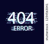 error with glitch effect on... | Shutterstock .eps vector #1254563041