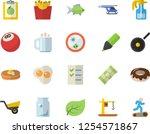 color flat icon set teflon flat ... | Shutterstock .eps vector #1254571867