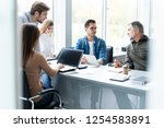 working day. group of young... | Shutterstock . vector #1254583891