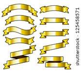 gold ribbons. | Shutterstock .eps vector #125458571