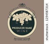 vintage label for wine bottles...   Shutterstock .eps vector #1254587314