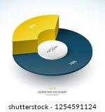 infographic isometric pie chart ... | Shutterstock .eps vector #1254591124