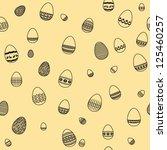 easter egg silhouette seamless...   Shutterstock .eps vector #125460257