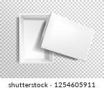 vector 3d realistic white empty ... | Shutterstock .eps vector #1254605911