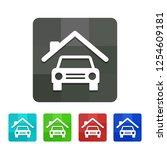 car garage   app icon | Shutterstock .eps vector #1254609181