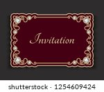 vintage vector frame with...   Shutterstock .eps vector #1254609424