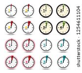 vector clock icons set | Shutterstock .eps vector #1254611104