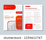 business brochure layout.... | Shutterstock .eps vector #1254611767