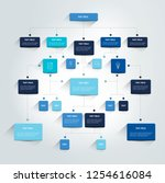 infographics flowchart. colored ... | Shutterstock .eps vector #1254616084