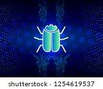 hacker bug cyber digital... | Shutterstock .eps vector #1254619537