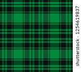 scottish pattern in black and... | Shutterstock .eps vector #1254619837