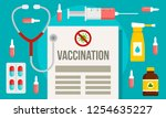 preparing vaccination banner.... | Shutterstock .eps vector #1254635227