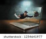 caucassian baseball player in...   Shutterstock . vector #1254641977