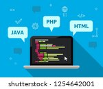 programming and coding concept... | Shutterstock .eps vector #1254642001