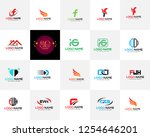 modern minimal mega vector logo ... | Shutterstock .eps vector #1254646201