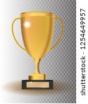 golden trophy cup  vector icon... | Shutterstock .eps vector #1254649957