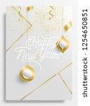 elegant happy new year... | Shutterstock .eps vector #1254650851