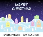 merry christmas card  great... | Shutterstock . vector #1254652231