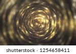 abstract gold bokeh circles.... | Shutterstock . vector #1254658411