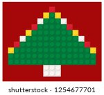christmas tree made of toy... | Shutterstock .eps vector #1254677701