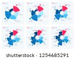 set of pie chart concepts.... | Shutterstock .eps vector #1254685291