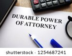 durable power of attorney... | Shutterstock . vector #1254687241