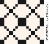 black and white vector grid... | Shutterstock .eps vector #1254688147