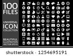 set of icons  quality icon... | Shutterstock .eps vector #1254695191