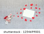 valentines day mockup with toy... | Shutterstock . vector #1254699001