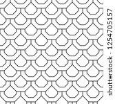 overlapping octagons retro... | Shutterstock .eps vector #1254705157