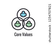 core values outline   line icon ... | Shutterstock .eps vector #1254707821