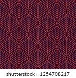 geometric leaves vector... | Shutterstock .eps vector #1254708217